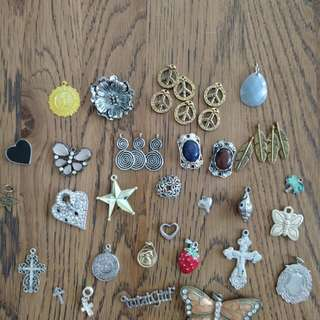 Various charms/pendants