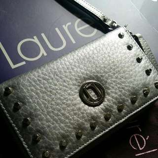 Laurel Metallic Silver Wallet