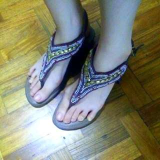 BCBG Beaded Sandals Size 7