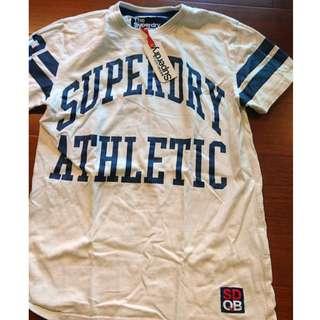 Superdry 極度乾燥 男款 全新 Logo 白色短袖上衣 絕對正品 S號 吊牌沒被剪掉