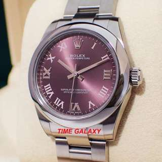 Brand New ROLEX Oyster Perpetual 31 Red Grape Lady Automatics watch. Swiss made.  Ref model: 177200