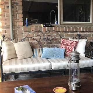 Wrought iron lounge
