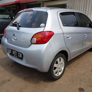 Dijual Mitsubishi Mirage GLX M/T 2012 Silver Siap Pakai Nego