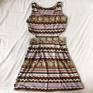 Pattern dress w/ side cut outs