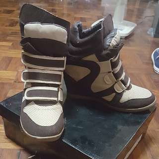 High-Cut Wedge Rubber Shoes