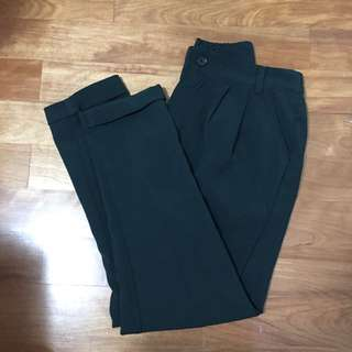 Queen shop 深綠哈倫褲