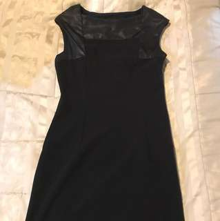 The executive black fitted dress