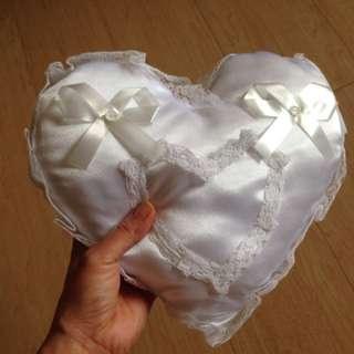 Ring bearer heart shape  pillow