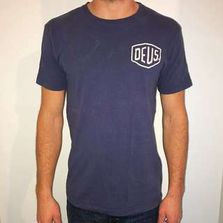 Deus tshirt men blue size small