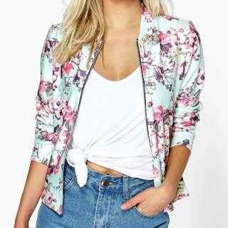 Boohoo floral jacket
