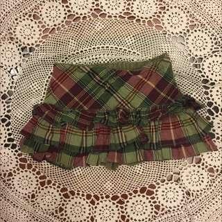 二手Ralph Lauren女童低腰格子短裙