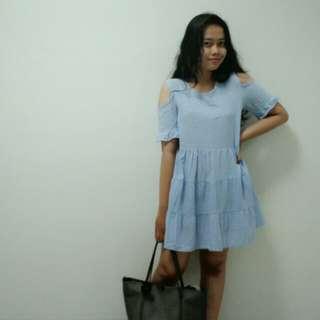 Merong Plaid Dress Korea