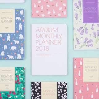 Ardium Korea Monthly planner Diary 2018