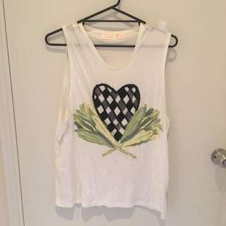 sass & bide | Beaded muscle T | size XS