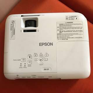 EPSON Projector with White Screen Projector Stand