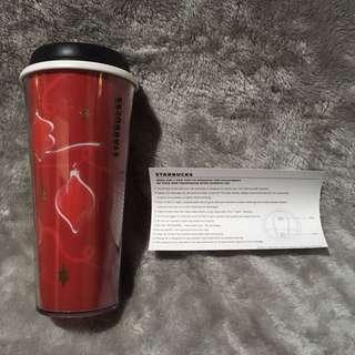 Original Auth Starbucks Christmas Tumbler Mug 16oz 473ml Brand New