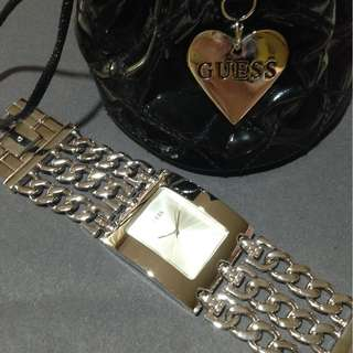 Authentic Guess Watch Silver Tone