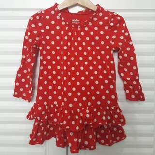 babyGap Red Polka Dot dress (incl post!)