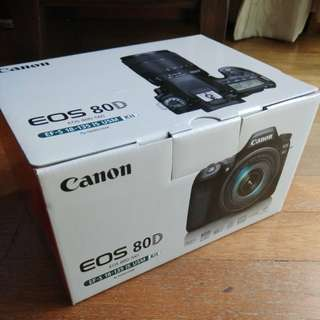 Brand New Canon 80D with EF-S 18-135mm IS USM lens (1yr warranty)
