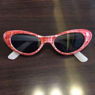 90s格紋亮蔥貓眼墨鏡