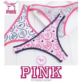 Pink VS Victoria's Secret G-string Gstring Thong Thongs Bikini Bra Braset Bralette Underwear Celana Dalam Wanita Baju Pakaian BH CD