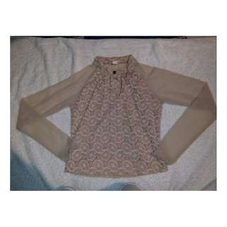 Lacey long sleeved blouse