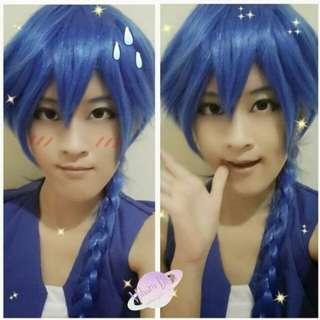 Wig Dark Blue untuk cosplay aladin magi