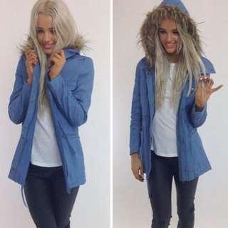 Blue Peppermayo coat