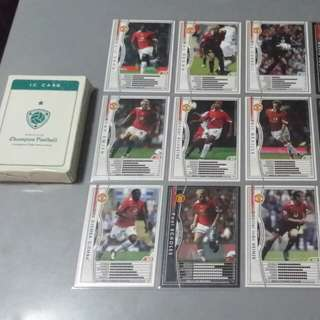 Manchester United Soccer Cards ( WCCF EUROPEAN CLUBS 2004-2005 )