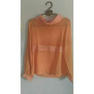 Baju Orange Transparan