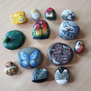 Custom Painted Pebbles