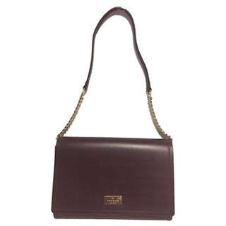 BNWT Kate Spade New York Arbour Hill Angelea Leather Shoulder Bag Clutch Mahogany