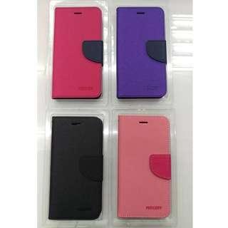 🚚 IPHONE I7Plus IPHONE I8Plus愛鳳愛瘋書本式手機皮套保護套可當手機支架手機殼撞色手機皮套可插卡片