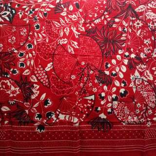 Mixed Pattern Red Square Hijab (Only 1 Left)