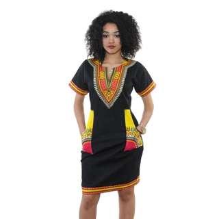 🌍 African Dress Black Form Fitting Costume Cosplay Africa Original Halloween