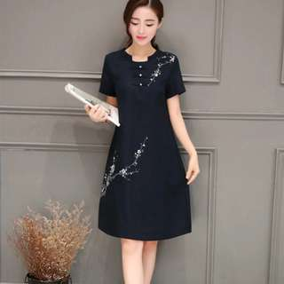 🚚 👗 Chinese dress woman cotton and linen traditional comfortable casual wear