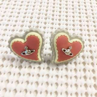 Genuine Vivienne Westwood Reverse Heart Earrings