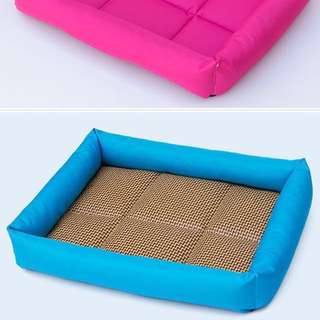 Pet Cooling Bed in Blue 40W x 50L S Size