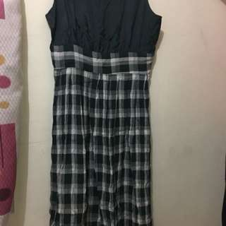 Checkered Maxi Dress (L) Pre-loved