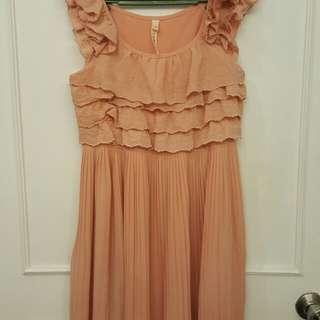 Pink salmon dress