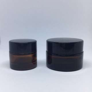 BN Amber Glass Cream Jar 10g and 20g