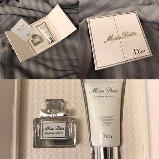 Hkd$128 dior cd miss dior blooming bouquet perfume set 女士香水迷你版禮盒裝(mini 香水板仔 + body lotion 身體露)