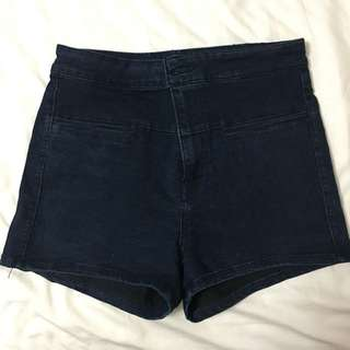 Pull&bear navy blue highwaist shorts