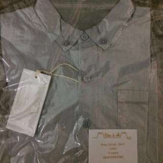 Chateau De Sable Grey Stripe Shirt 4 years *Free Delivery*