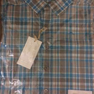 Chateau De Sable turquoise checkered shirt 4 years *Free Delivery*
