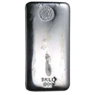 Perth Mint 1kg Silver bar (999)