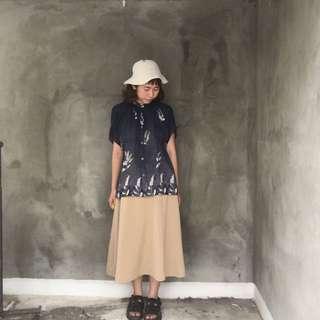日貨 超美藍色漸層花卉短袖襯衫❤️任選兩件減100✨古著復古vintage