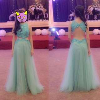 Party dress tosca frozen by designer