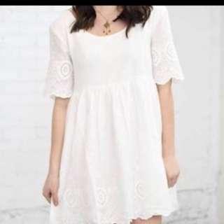Somedaya lovin white dress in Size S