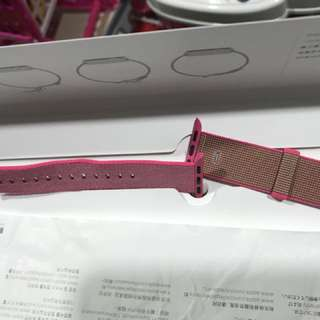 Apple Watch Pink Nylon Bannd
